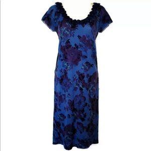 Zac Posen Floral Cashmere Silk Knit Bodycon Dress